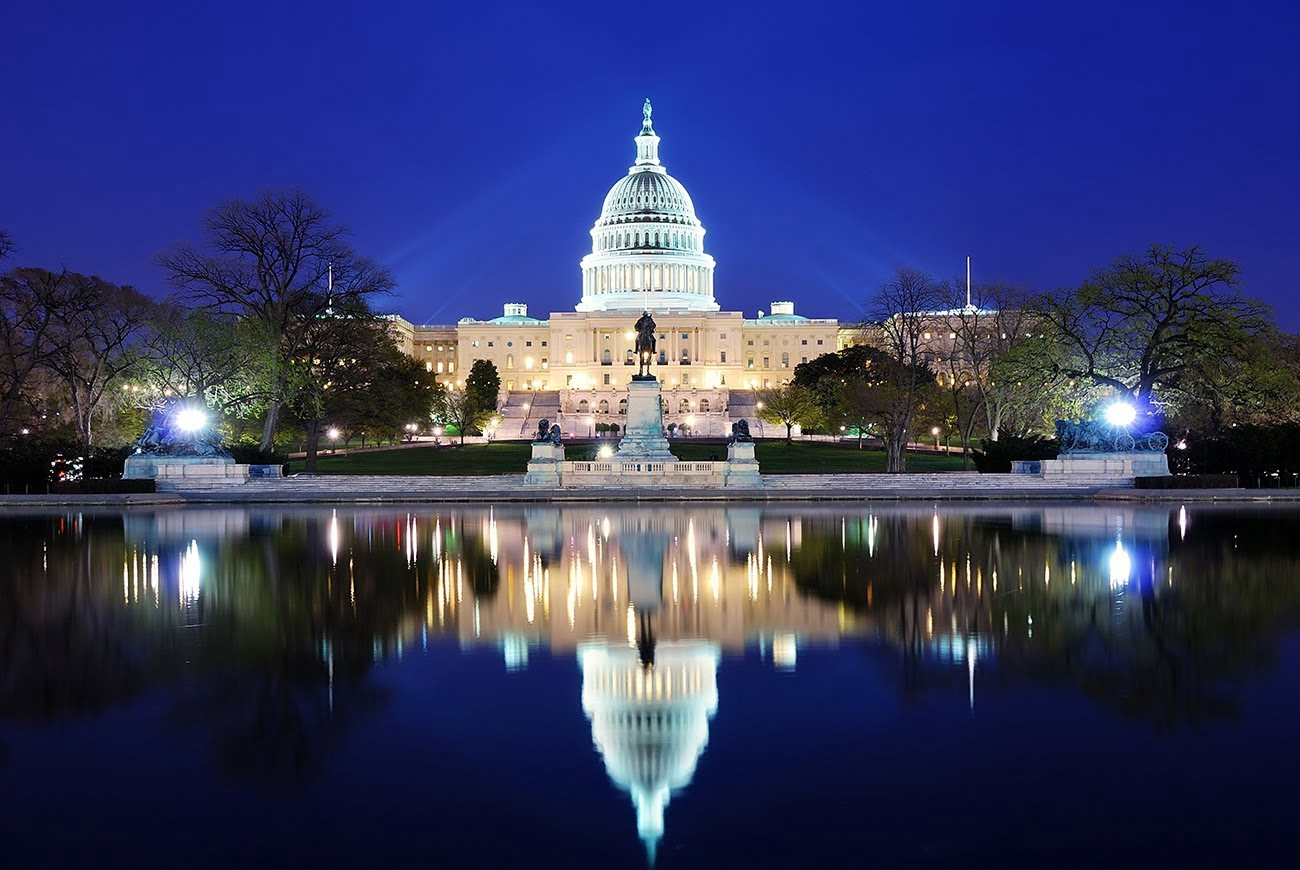 A close up picture of the capitol building