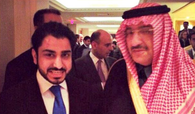 International Affairs student Ahmen Alhamar with the Saudi Crown Prince Muhammad bin Nayef. On April 29, 2015, Nayef was appointed heir apparent by King Salman.